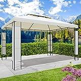 BRAST Tonnelle de jardin 3x4 avec LED BREEZE 2,7 H beige , étanche/ imperméable, très stable,...