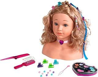 Theo Klein-5240 Princess coralie cabeza para maquillar y peinar, juguete, Multicolor (5240)