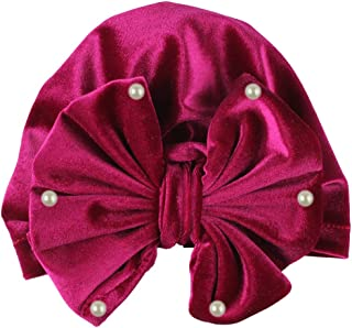 amropi Baby Girls Hat Bowknot Cap Soft Turban Headwrap Beanie for Newborn Infant Toddler