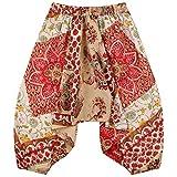 lovemeels Pantalones de verano para niños pequeños Harem Hareem para niños - Genie Pants para niñas