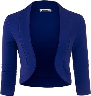 Womens 3/4 Sleeve Bolero Open Front Cardigan with Plus Size