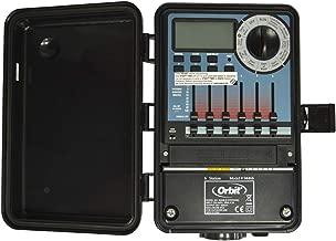 S&M Orbit 94466 – Programador automático Híbrido con Tapa-6 Zonas de riego, Negro y Azul, 10.35 x 20.51 x 25.5 cm
