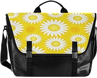 Bolso de lona para hombre y mujer, diseño de girasol, color amarillo