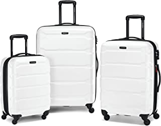 Samsonite Omni PC Hardside Expandable Luggage with Spinner Wheels, White, 3-Piece Set (20/24/28)