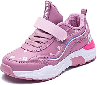 BODATU Girls Running Shoes Athletic Lightweight Mesh Sports Shoes(Toddler/Little Kid/Big Kid)