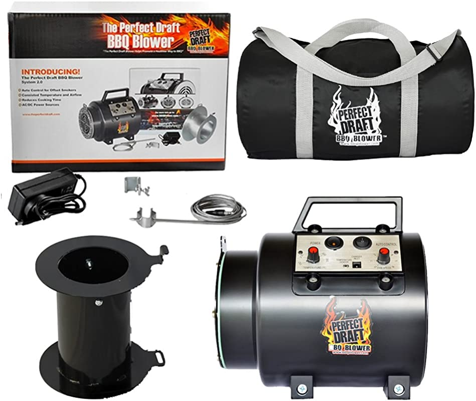 Perfect Draft The BBQ Blower 2 0 With Universal Adapter And Duffle Carry Bag Protect Your Blower