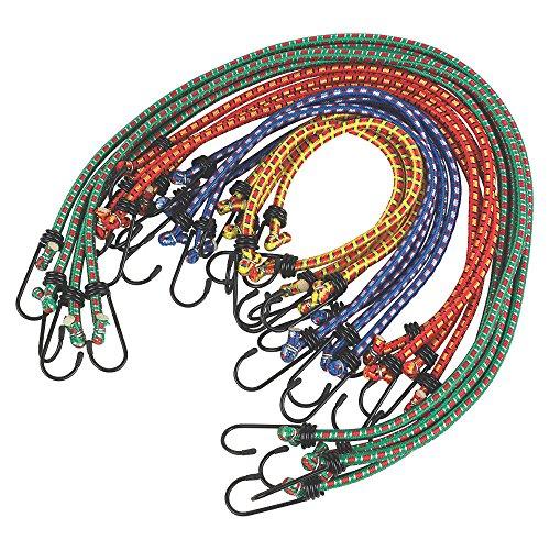 Heavy Duty Bungee Cords 12 in a Pack Shock Cord Ties - Tarpaulin Elastic...