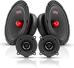 $109 » DS18 Bullet Midrange and Tweeter Combo - Complete Mids and High Car Audio Package - Includes 2X 8 Mids with Black Grills a...