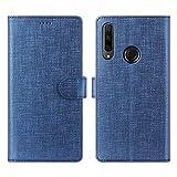 CRESEE Honor 9X Hülle, PU Leder Schutzhülle mit 3 Kartenfächer, Hülle Tasche Magnetverschluss Flip Cover Standfunktion Stoßfest Brieftasche Handyhülle für Huawei Honor 9X (Blau)