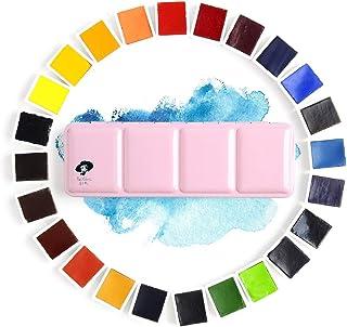 Paul Rubens Set de Pintura de Acuarela, Grado Profesional 24 Colores Vibrantes, Ligero y Portátil, OX Gall y pigmento puro, alta transparencia y resistencia a la luz