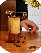 Manual Coffee Grinder Mini Hand Coffee Grinder Home Mill Ceramic Grinding Core,Amber