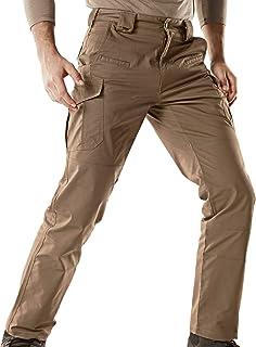 CQR Men's Flex Stretch Tactical Work Outdoor Operator Rip-Stop Trouser Pants EDC
