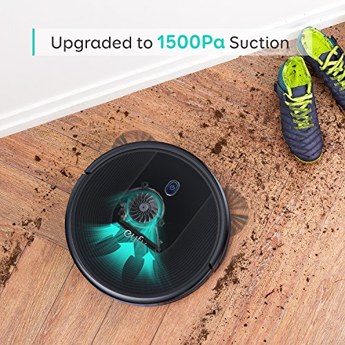 eufy BoostIQ RoboVac 30, Robot Vacuum Cleaner, Upgraded, Super-Thin, 1500Pa Suction, Boundary Strips Included, Quiet, Self-Charging Robotic Vacuum Cleaner, Cleans Hard Floors to Medium-Pile Carpets