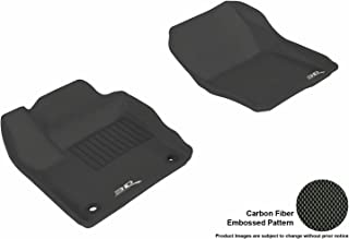 3D MAXpider Front Row Custom Fit All-Weather Floor Mat for Select Ford Focus Models - Kagu Rubber (Black)