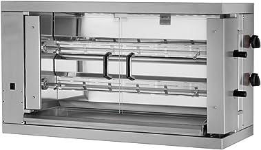 Barbacoa de gas para pollo ECO con 2 pinchos para 12 pollos – 1098 x 480 x 640 mm