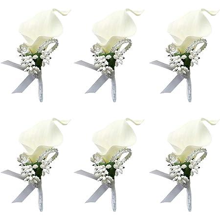 calla boutonniere\uff0cButton Hole\uff0cElegant boutonniere\uff0cSummer boutonniere,Groom boutonniere,Groomsman boutonniere,Wedding flowers,Whiter Wedding