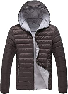 Sunward Coat for Men,Men's Winter Casual Long Sleeve Solid Color Loose Hooded Jacket Coat