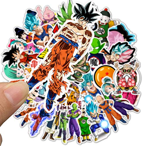 Playstyle Dragon Ball Stickers Pack 50 Pcs Anime Stickers for Water Bottles, Laptop, Skateboard, Luggage, Car Bumper, Cartoon Stickers Decals