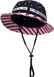 8684436cb38a1 TOP HEADWEAR Cotton Twill USA Flag Bucket Hat USA All The Way Boonie