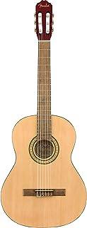 Fender FC-1 Classical Acoustic Guitar, Beige, 0971960421