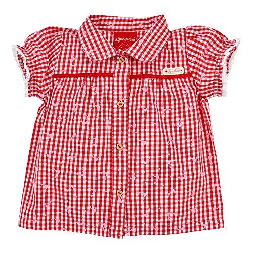 BONDI Trachtenbluse halbarm, karo rot/Weiss 74 Tracht Baby Mädchen Artikel-Nr.86432