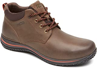 XCS Men Walk360M Chukka Lace Up Boot Shoe, Bark/Cherry Tomato, US 13