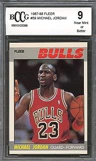 1987-88 fleer #59 MICHAEL JORDAN chicago bulls (2nd YEAR CARD) BGS BCCG 9 Graded Card