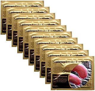 Joynest 30 Pairs Crystal Eye Mask Under Eye Mask 24K Gold Gel Collagen Eye Pad for Moisturizing & Reducing Dark Circles Puffiness Wrinkles Under Eye Patch for Women (Pink)