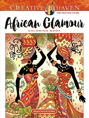 Creative Haven African Glamour Coloring Book Creative Haven Coloring Books product image