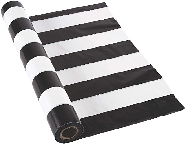 Black And White Striped Tablecloth Roll 100 Ft