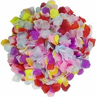 Pétalos de rosa monolíticos y coloridos, de Skyshadow, flores artificiales, pétalos de seda para bodas, ambientes románticos y propuestas, 1000 pcs
