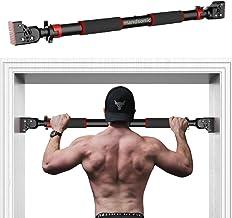 HANDSONIC Pull Up Bar voor Deuropening, Geen Schroeven Chin Up Bar Verstelbare Dip Bars voor Thuis Gym Oefening Fitness & ...