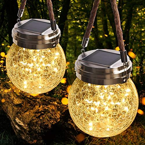 JSOT Lanterne da Esterno, 30 LED Lampade Solare a...