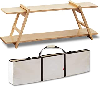 FIELDOOR ワンバイラック (収納バッグ+脚セット+棚板×2) 木製ラック 2段 キャンプ アウトドア アレンジ 簡単組立