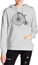 Penny Farthing Women's Long Sleeve Pullover Hooded Sweatshirt with Pocket
