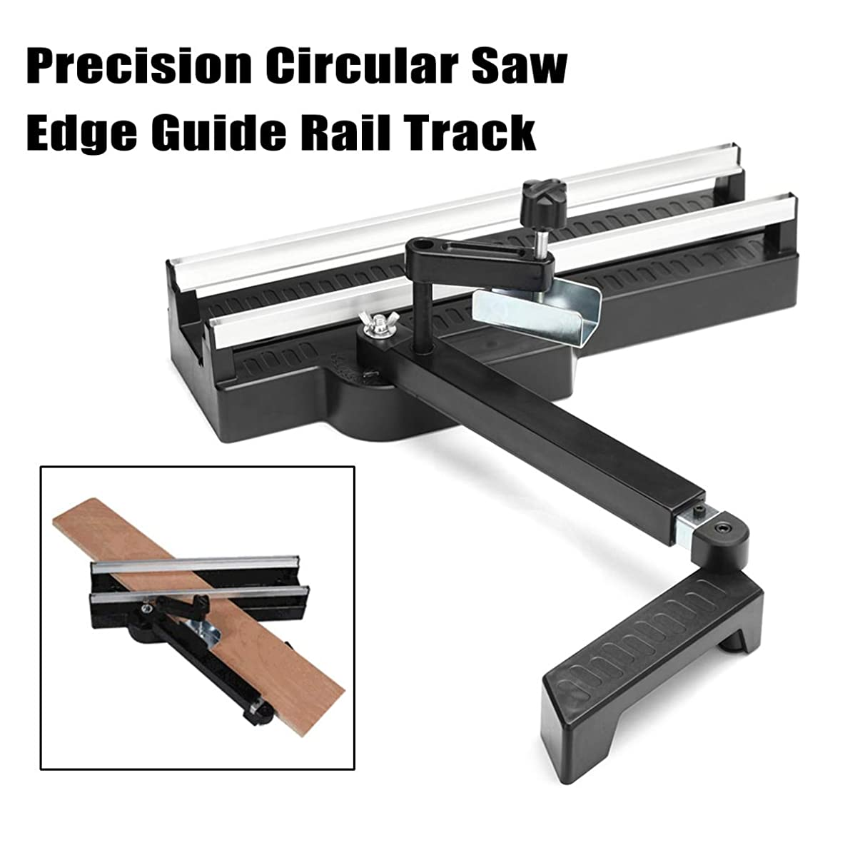Bestchoice - 415mm Precision Circular Saw Edge Guide Rail Track Woodworking Cutting Tool Flat Edge Trimming Guide Rail