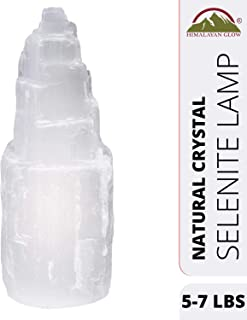 Himalayan Glow Selenite Crystal Lamp,Authentic Handmade Moroccan Selenite with (ETL Certified) Dimmer Switch,Perfect Gift Choice | 5-7 LBS
