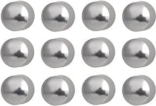Caflon Ear Piercing Ball Earrings Studs 4mm White Surgical Steel 12 Pair