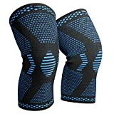 VIPEX Knee Brace - 1 Pair Knee Compression Sleeves for Men & Women - Knee Support Braces for Running, Crossfit, Basketball, Weightlifting, Pain Relief and Injury Recovery (Medium)
