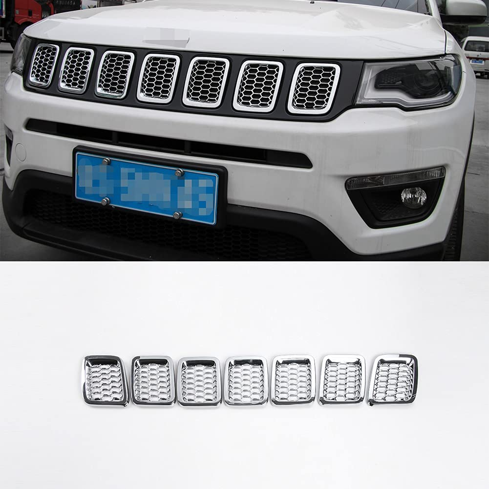 Front Grill Omaha Mall Rings Grille Inserts Cover Je Kit 2017-2021 Popular products for Trim