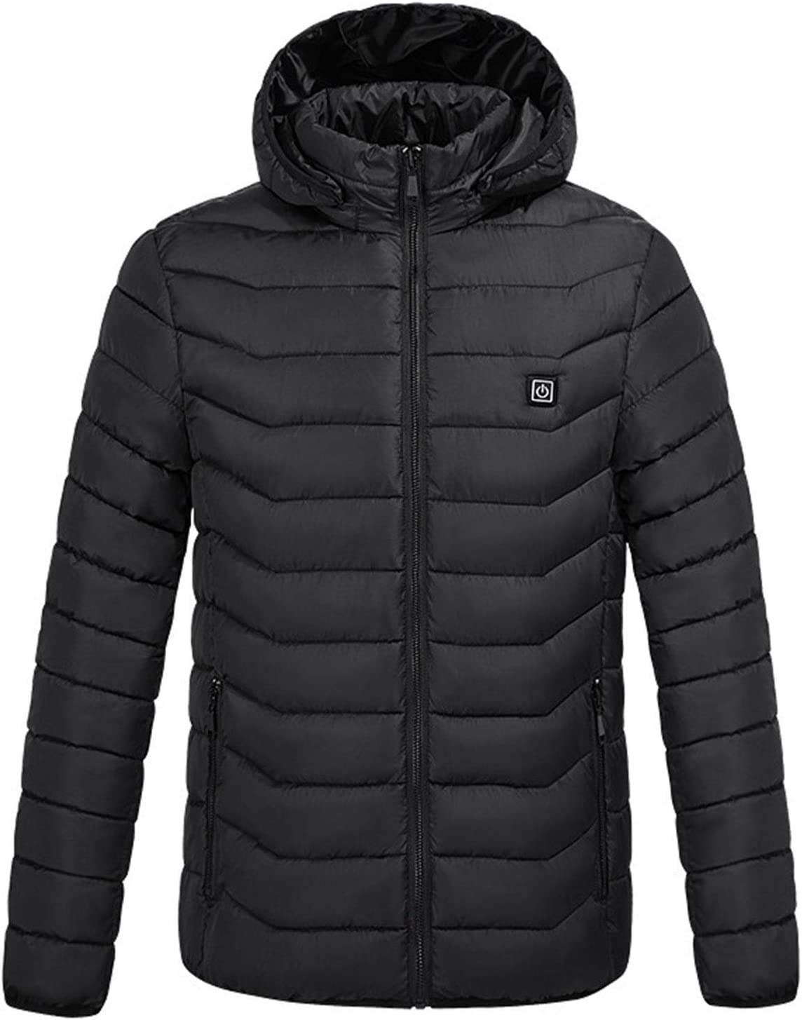 DALLL Heated Jacket Men's Electric Heated Jacket for Outdoor Work and Daily wear,Black,S