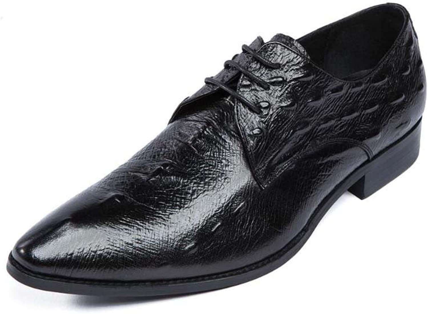 Men's Business Dress shoes Atmospheric Pressure Flower Pointed shoes Comfortable New Summer