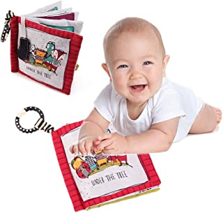 Soft Baby Cloth Book, Touch and Feel Activity Crinkle Book for Babies With Washable Fabric, Infants & Toddler Early Develo...