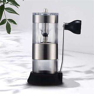 手動コーヒーグラインダー、調節可能な設定円錐バリミル、エアロプレス、ドリップコーヒー、エスプレッソ、フレンチプレス用つや消しステンレススチール豆全体バリコーヒーグラインダー