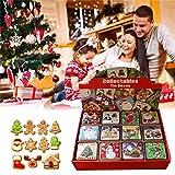 Goforwealth - Caja para Bombones de Navidad, 12 Unidades, Caja pequeña, Lata, Caja de Regalo para Dulces, Galletas