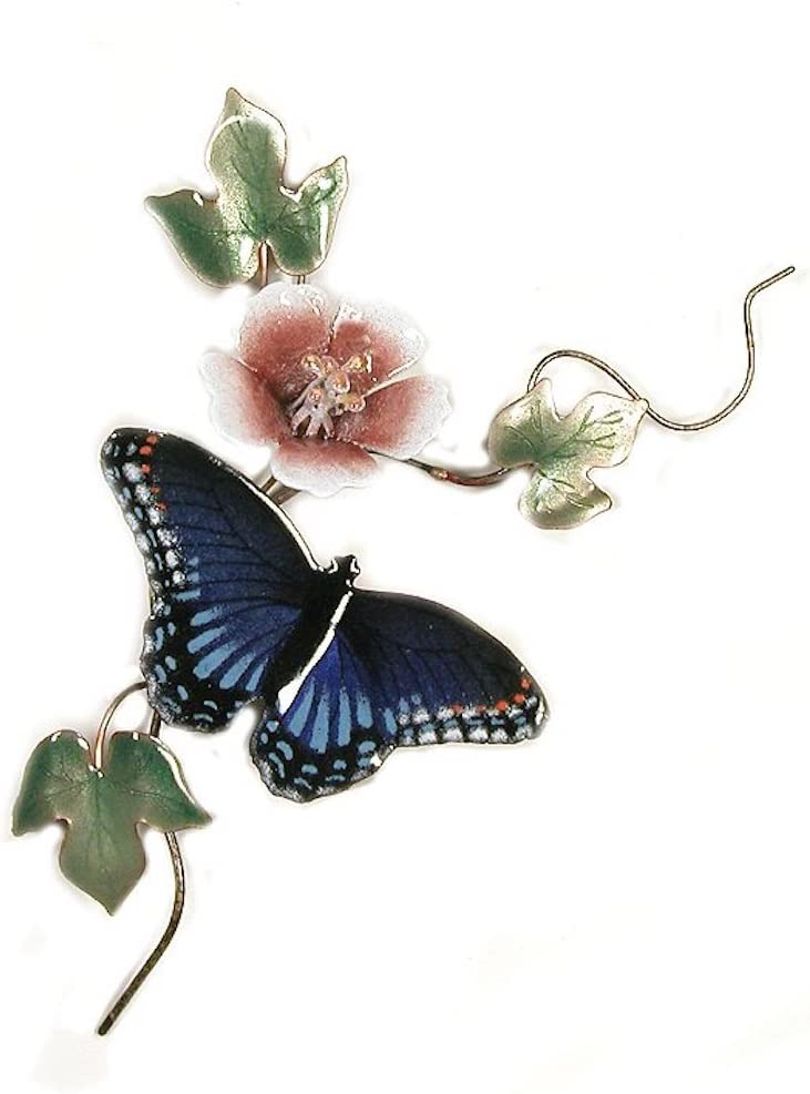 Max 70% OFF Bovano - Wall Sculpture Butterfly Purple cheap Red-Spotted