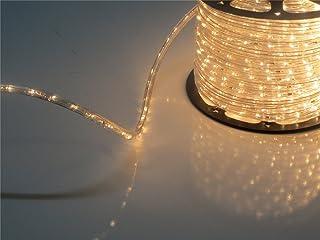 PYSICAL 110V 2-Wire Waterproof LED Rope Light Kit for Background Lighting,Decorative Lighting,Outdoor Decorative Lighting,Christmas Lighting,Trees,Bridges,Eaves (150ft, Warm White)
