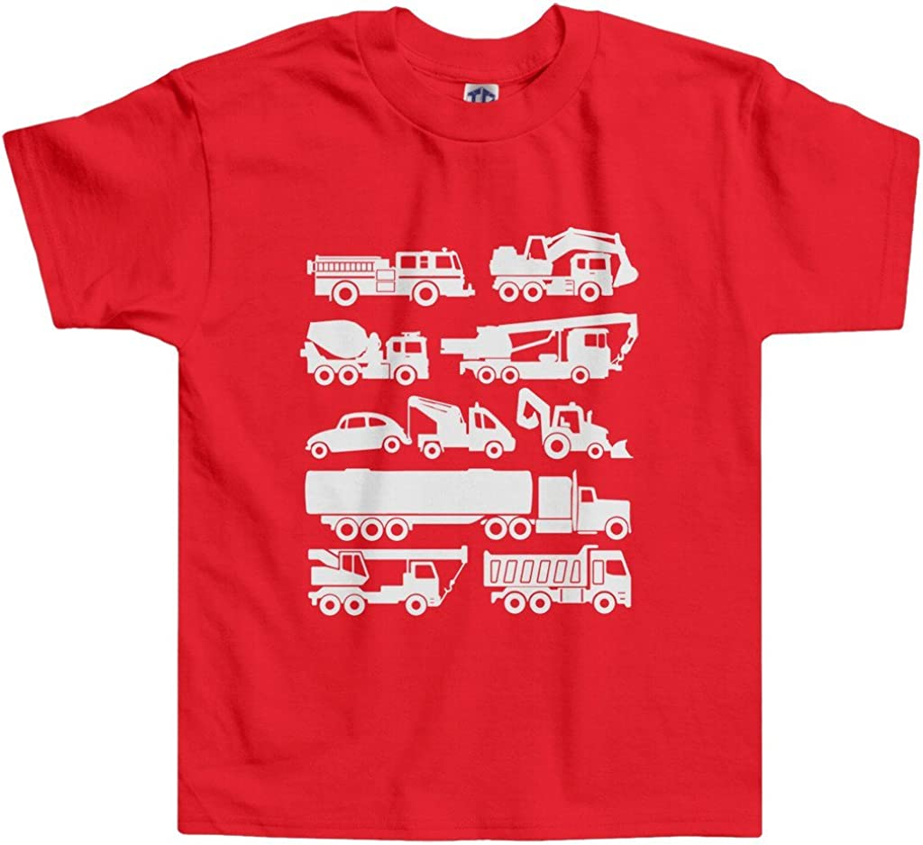 Threadrock Little Recommended Boys' T-Shirt Toddler Trucks Max 67% OFF