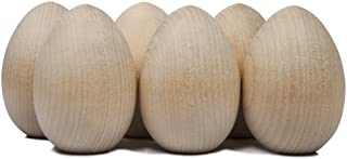 Unpainted Wooden Eggs - For Easter, Crafts and more - 2-1/2