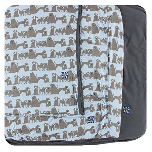 Kickee Pants Little Boys Print Twin Sheet Set - London Dogs, One Size